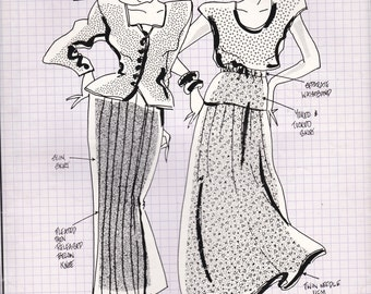 80's Sewing Pattern - Knitwit 2000 Designer Skirts Size 6 - 22 Factory folded and complete