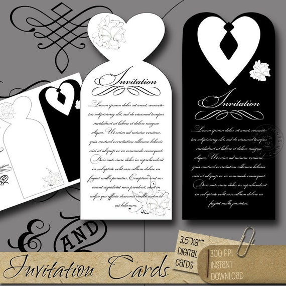 Wedding Invitation Cards Digital Collage Sheet By CobraPrints