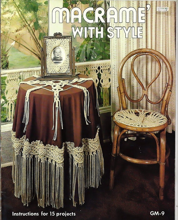 Macrame Book Cover Tutorial ~ Macrame with style pattern book by gaylemot publishing