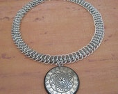 Shield Maiden Chainmaille Viperscale Necklace