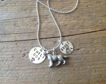 Lab Personalized Necklace Labrador Retriever Golden Dog Lover  In Memory Dog Memorial Jewelry