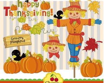 Thanksgiving,Harvest Clip Art,Autumn Clip Art,Happy Thanksgiving-Digital Clip Art