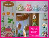 Butterflies and Flowers Mobile Pattern - Amigurumi