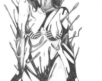 """Limited """"Venomous"""" print by Punk Guy Comics"""