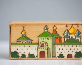 Russia Box Hand Painted Pyrography Design