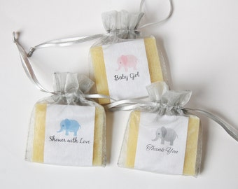 Elephant Soap Baby Shower Favors