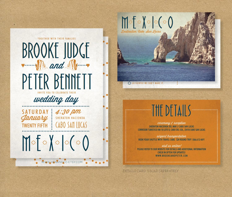 Destination Wedding Invitations Wording: TROPICAL DESTINATION Wedding Invitation // Printable By