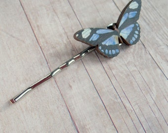 Blue Butterfly Bobby Pin