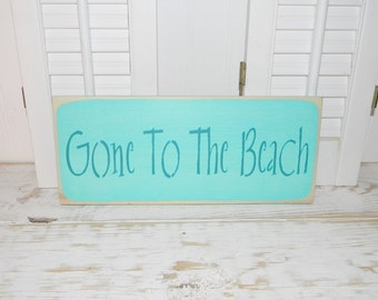 Gone To The Beach Sign Cottage Chic Wall Decor Coastal Decor