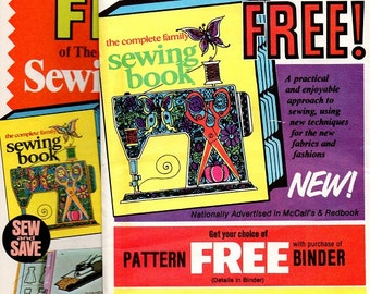 Retro 1970s McCall's The Complete Family Sewing Book All Chapters 1 to 15 New Unused Patterns
