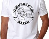 Mens Neighborhood Watch Grandma Funny T-Shirt hilarious, old lady, yelling, shirt, back to school in style, funny family reunion S-5XL