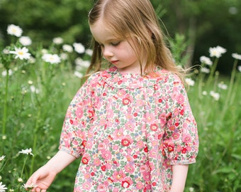 Girl's Liberty Print Smock Blouse for Baby to 10 Years | Pink Betsy