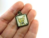 Chihuahua Necklace  - Hand Painted Art Jewelry Pendant