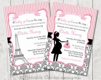 paris baby shower invitation paris baby shower paris invitation