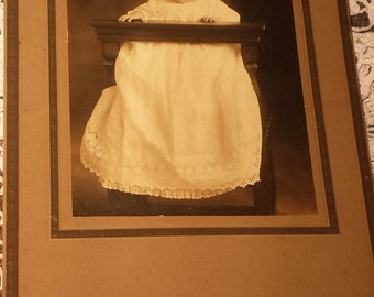 Vintage 1800s Photograph Baby 4 X 5 1/2 inches