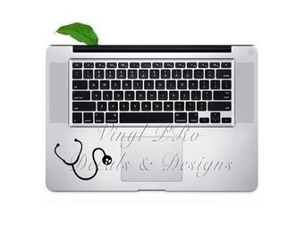 Stethoscope Macbook Decal Keypad Hospital Nurse Emt Ekg First Responder Doctor RN BSN Sticker