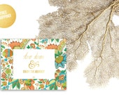 Gold Foil Print Nursery / Slow Down & Enjoy The Journey White Floral