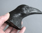 Edgar 704, Raven, Crow, Bird, Faux Taxidermy, Wall Sculpture, Handmade, Steve Eichenberger, Wall Art