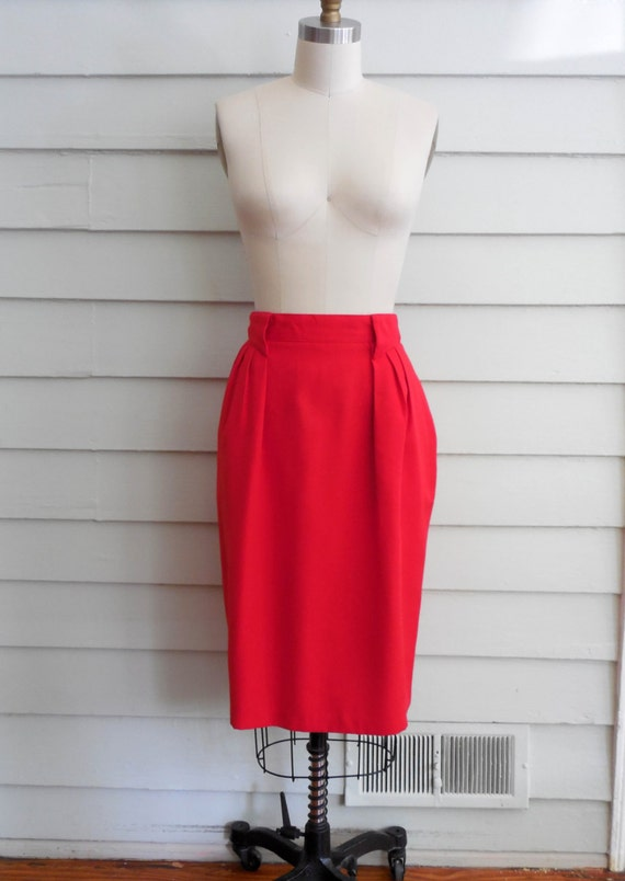 1980s bright pencil skirt medium to large by