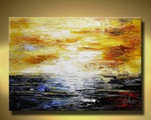 Wall Art ABSTRACT PAINTING Acrylic Wall Decor  Landscape Abstract Canvas Painting Contemporary Art Home Decor, Wall Hanging m055