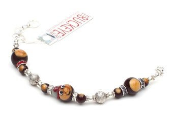 Brutus The Buckeye Majestic Bracelet The Buckeye Bead OSU Ohio State University Buckeyes Jewelry