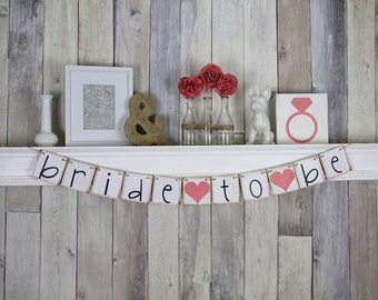 Bridal Shower Decor, Bridal Shower, Wedding Decor, Bridal Shower Banner, Wedding Garland, Wedding Shower, Bride To Be Banner, Wedding Banner