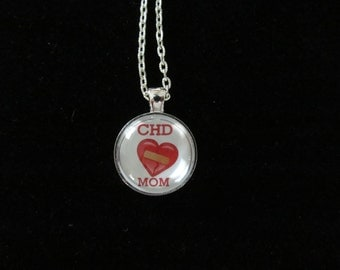 CHD Heart Defects Pendant Necklace or Keychain