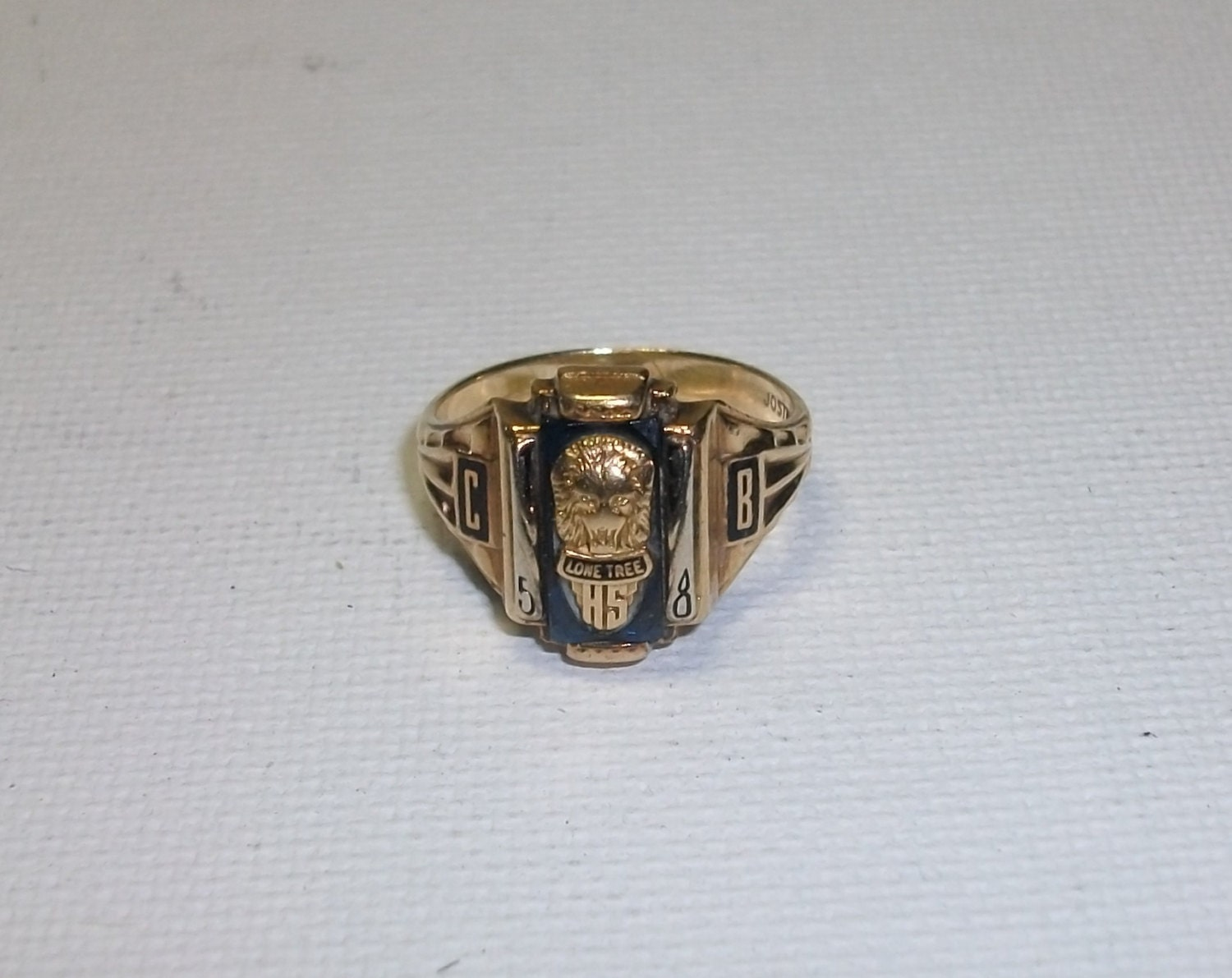 Antique 10K Solid Gold 1958 Class Ring Size 5 5