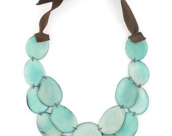 Tagua Statement Necklace / Tagua Jewelry / Tagua Necklace / Celeste Necklace / Statement Necklace / Fair Trade Jewelry / Tagua Nut Jewelry