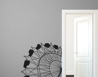 Casey's Corner Ferris Wheel - Wall Decal Custom Vinyl Art Stickers