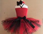 Black and Red Tutu Dress, Toddler Tutu, Sports Team Tutu