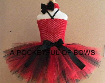 Black and Red Tutu Dress, Toddler Tutu, Lady Bug Tutu Dress