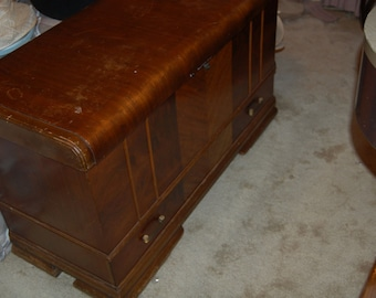Lane Chest Handcrafted Vintage Cedar Wood With Copper