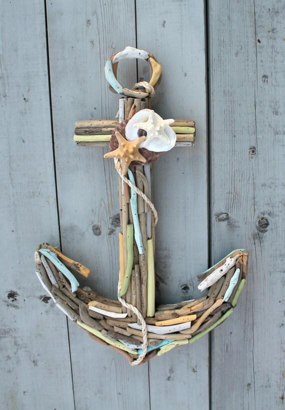 Driftwood Seashell Anchor Nautical Home Decor