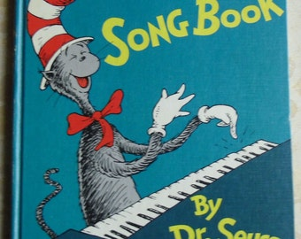 Vintage Childrens Book - The Cat in the Hat Song Book, Dr. Seuss, Random House 1967, First Edition