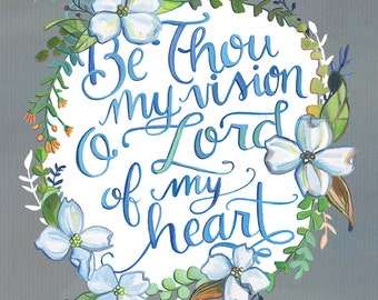 Be Thou My Vision - Art Print - Hymn Illustration