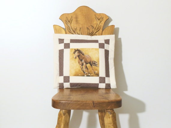 Items similar to Western Horse Pillow Western Home Decor