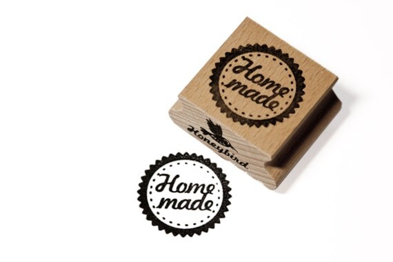 Homemade circle stamp