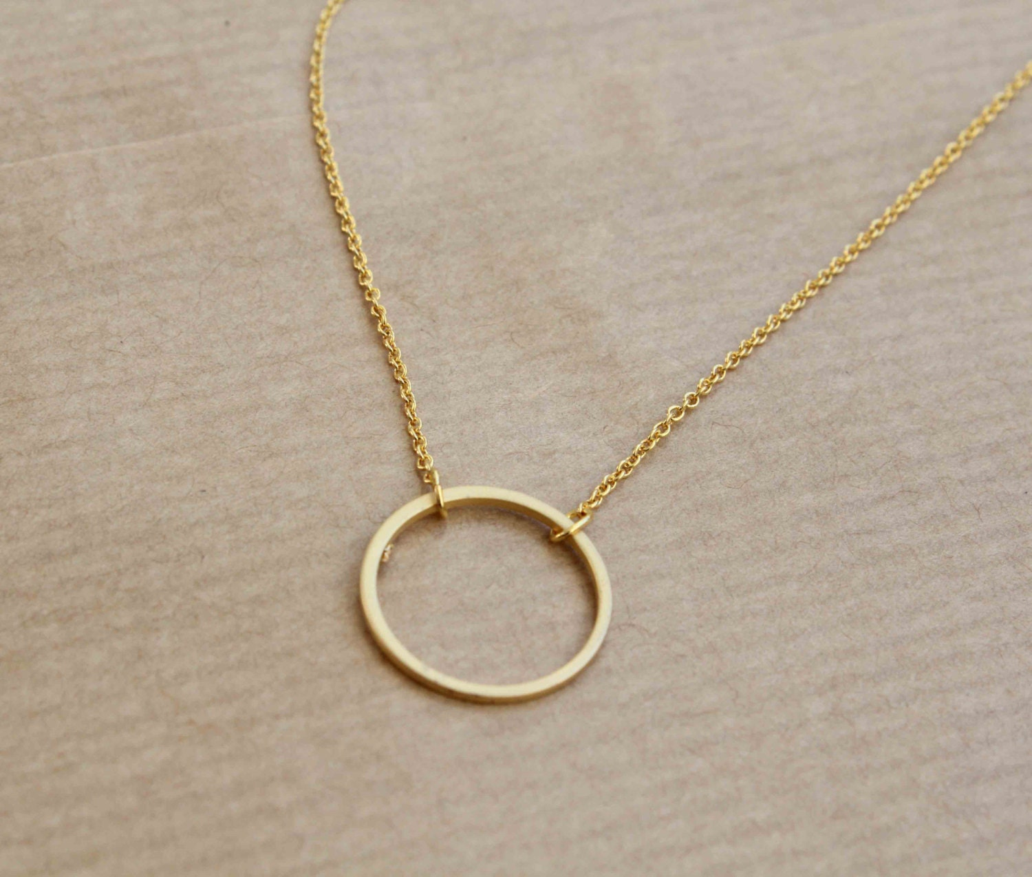 karma necklace gold plated circle necklace circle of life. Black Bedroom Furniture Sets. Home Design Ideas