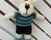 Boy Toy Gift Bunny, Bunny Kids, Cute Bunny, Hand Knit Stuff Bunny, Gift Boy Toy,  Kids Toy, Stuff Animal, Plush Doll, Bunny Nursery, Liam