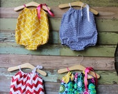 Bubble Romper, Red Chevron, blue greek, yellow, floral, coordinating sister, coming home outfit, newborn, 3 months, 6 months, 12, 18 months
