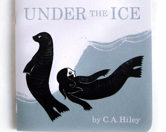 Under the Ice - artist's book, illustration zine, comic, Selkie, Scottish folklore, Scotland, sea, mythology, storytelling, children, seal