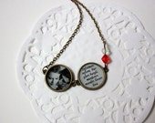 "Handmade necklace with picture and quote from ""À bout de souffle""(Breathless) movie"