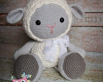 Made to order Crochet Cuddles the lamb doll