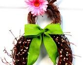 PRE-ORDER-Pip Berry Bunny - Easter Bunny Wreath - Spring Wreath - Summer Wreath - Easter Door Decoration