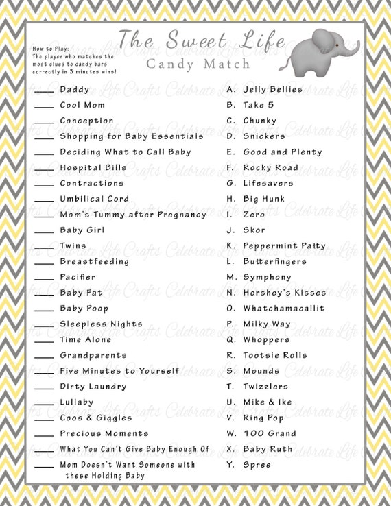 Smart image throughout candy bar baby shower game free printable