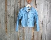 Vintage 1960s Wrangler denim Jacket//x-small women's jean jacket