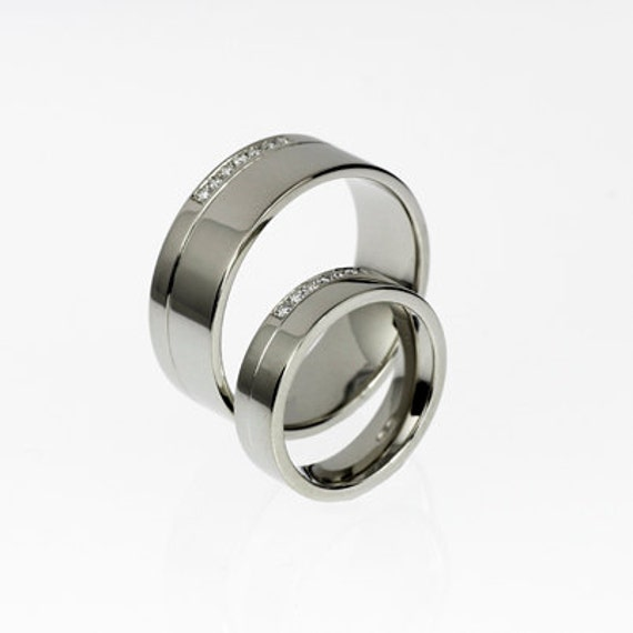 ... palladium ring, mens wedding band, half eternity ring, matching rings