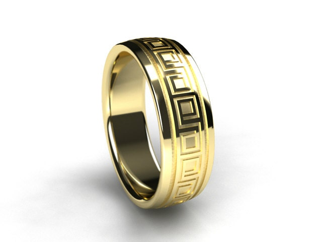 men yellow gold ring men wedding band wedding ring