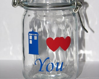Doctor Who Mini Glass Canister
